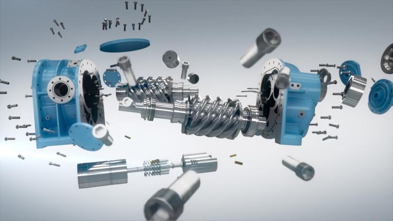 GEA Screw Compressor by Lichtgestalten