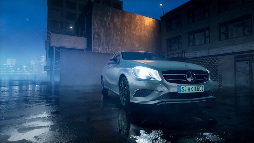 Mercedes-Benz-Accessories A-Klasse Product Trailer by Lichtgestalten